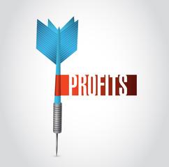 profits dart sign illustration design