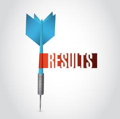 results dart sign illustration design