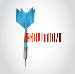 solution dart sign illustration design