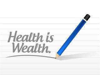 health is wealth message illustration design
