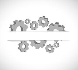 gears under a paper pocket illustration design