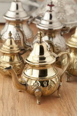Moroccan teapots on the market