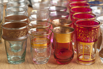 Moroccan tea glasses on the market