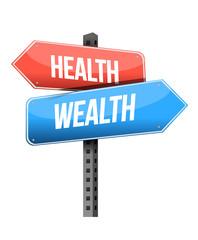 health and wealth sign. illustration design