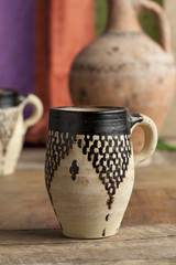 Moroccan ceramic water cup