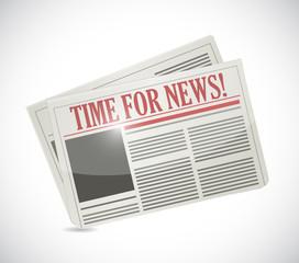 time for news.newspaper illustration design