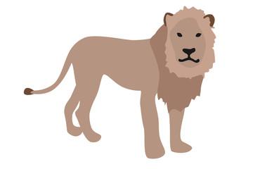 ライオンのイラスト 右向き
