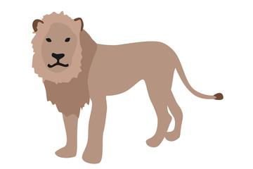 ライオンのイラスト 左向き