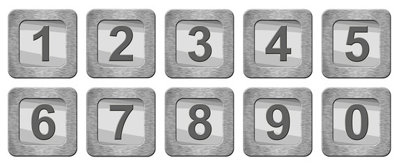 set of numbers isolated on white background