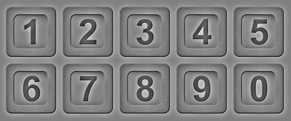 numbers on a grey background