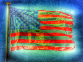 Amerkikanische Flagge / Fahne - Retrostyle