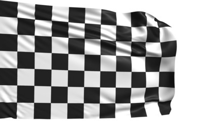 checkered flag with fabric structure; looping