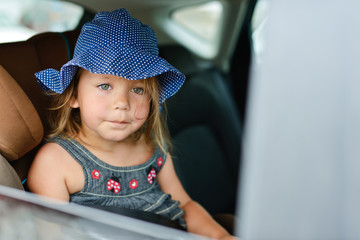 girl in car