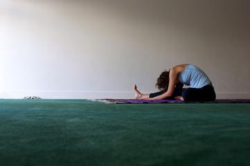 woman forward fold horizontal