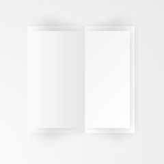 Vector paper template banner. White