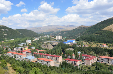 Армения, панорама города Джермук