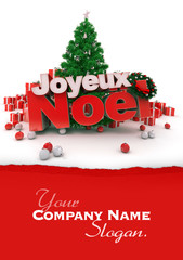 Happy Christmas in French customizable