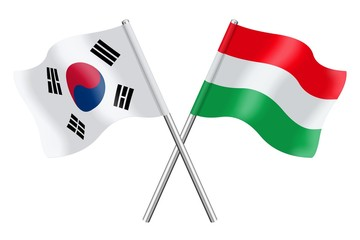 Flags: South Korea and Hungary