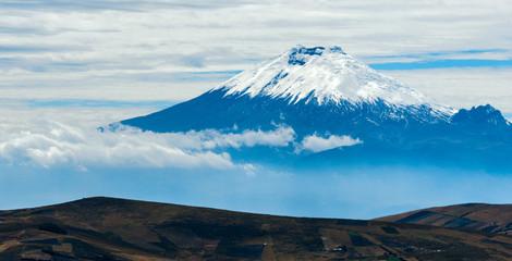 Cotopaxi volcano over the plateau, Andean Highlands of Ecuador