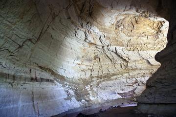 Narrow canyon in Cappadocia