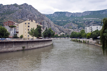 Yesilirmak river in Amasya, Turkey