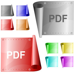 Pdf. Vector metal surface.