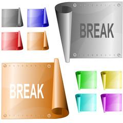 Break. Vector metal surface.