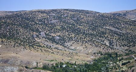 Mountains in central Anatolia near Ankara, Turkey