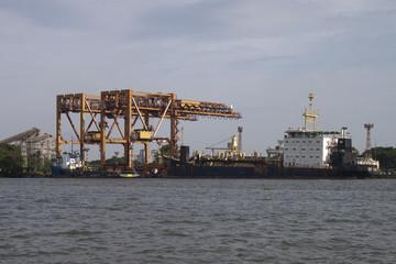 Port in Kochi, India
