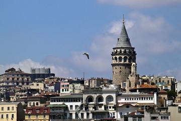 Galata district wirh its tower in Istanbul, Turkey