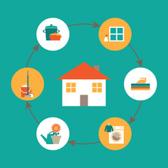 Housework illustration