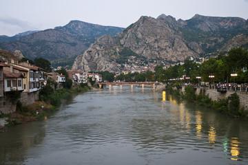 Yesilirmak river in Amasya, Turkey