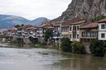Traditional Ottoman houses in Amasya, Turkey