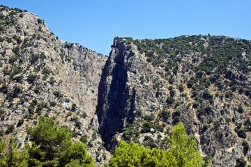 Deep  canyon Saklikent in Turkey
