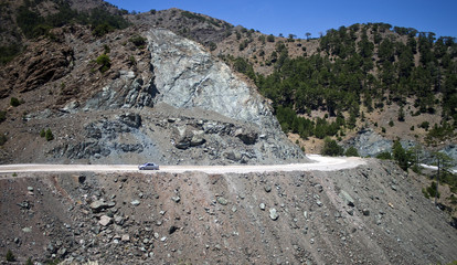 Mountain road in southern part of Turkey