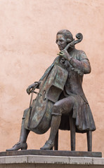 Statue of Luigi Boccherini in medieval city of Lucca, Tuscany