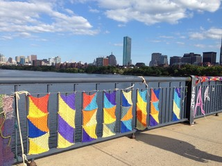 knitting decoration of the bridge in boston