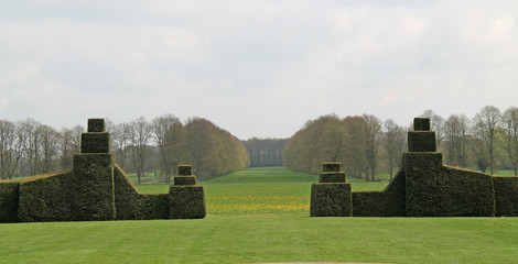 The Outlook Across Parkland from a Formal Garden.