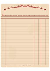 Vintage invoice