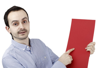 Man holding a paper