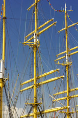 Masts of sailing ships