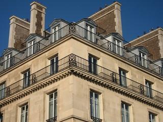 Immeuble d'architecture typique de Paris