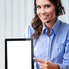 Support phone operator with tablet pc