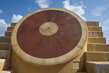 Astronomical instrument at Jantar Mantar, Jaipur, India