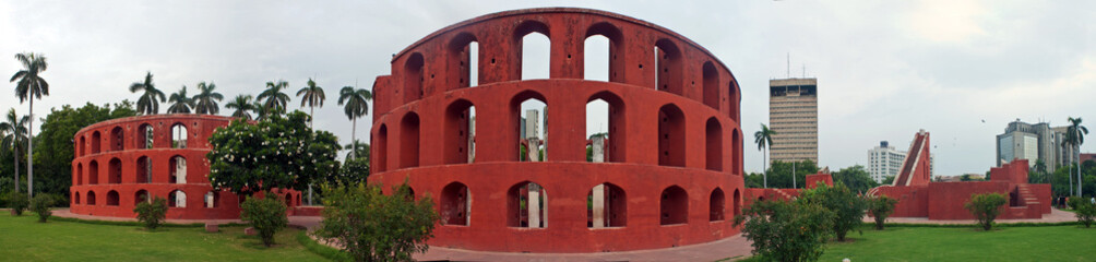 Old astronomical observatory Jantar Mantar in Delhi, India