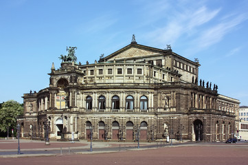 Semperoper in Dresden,Saxony,Germany