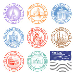 Vector Travel stamps