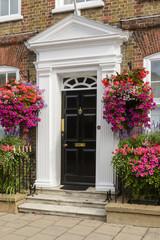 blossoming georgian portal, Henley on Thames