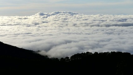 sea of clouds in canary islands