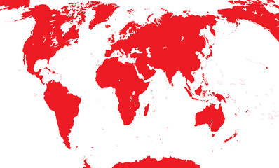 Map Of The World. Vector Illustration.
